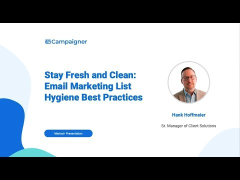 Webinar Replay: Stay Fresh and Clean: Email Marketing List Hygiene Best Practices