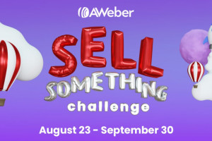 Sell Something Challenge: Get a Free Month of AWeber Pro When You Sell One Thing