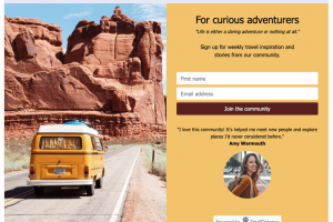 How to create a landing page for free