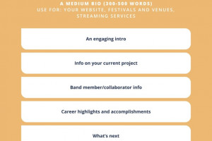 Make your first impression count with a remarkable musician bio