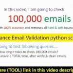 How to do 100,000 bulk email verification, validation per DAY! Advance Email Verifier